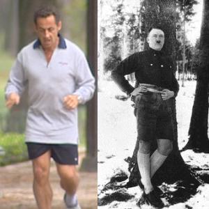 Hitler et sarkozy en short
