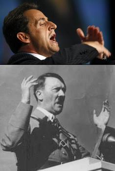 Discours Sarkozy, Discours Hitler