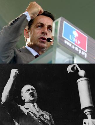 Sarkozy poing, Hitler poing